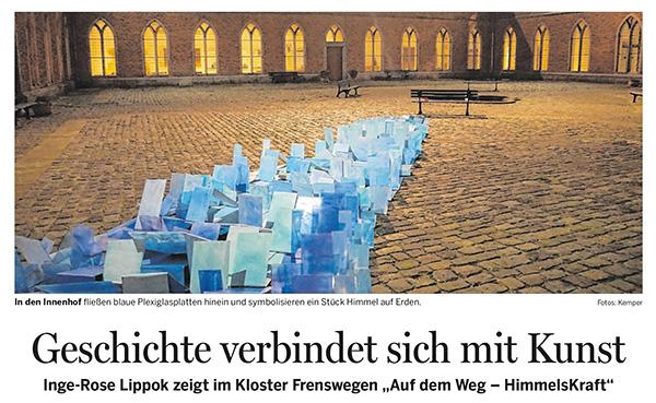 Zeitungsbericht zur Ausstellung