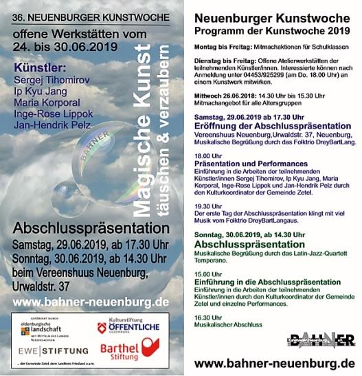 Flyer Neuenburger Kunstwoche